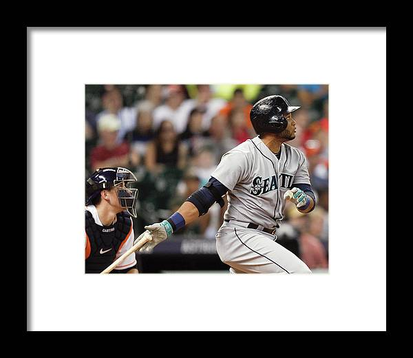 American League Baseball Framed Print featuring the photograph Jason Castro by Bob Levey