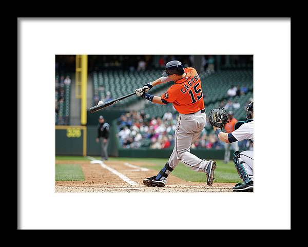 American League Baseball Framed Print featuring the photograph Jason Castro by Otto Greule Jr