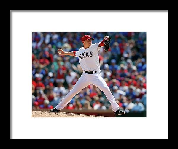 American League Baseball Framed Print featuring the photograph Jason Frasor by Tom Pennington