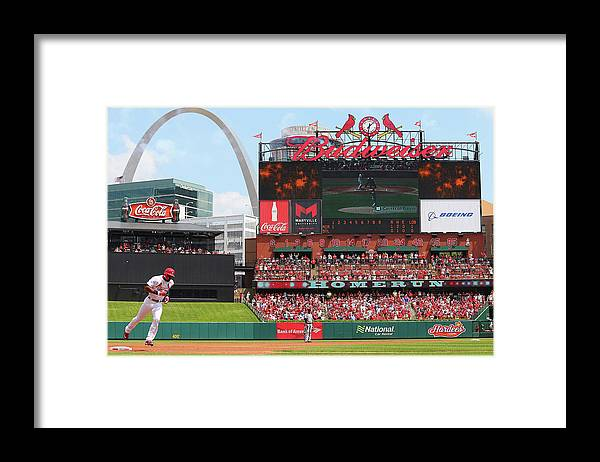 St. Louis Cardinals Framed Print featuring the photograph Jason Heyward by Dilip Vishwanat
