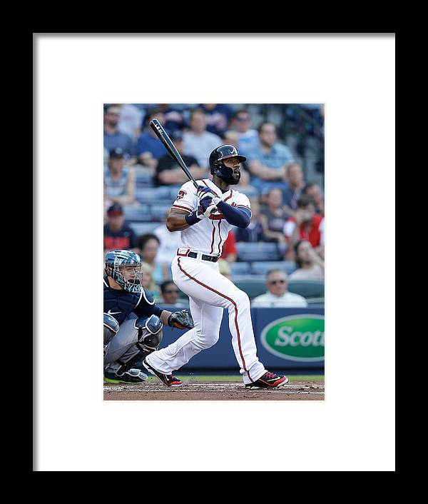 Atlanta Framed Print featuring the photograph Jason Heyward by Mike Zarrilli