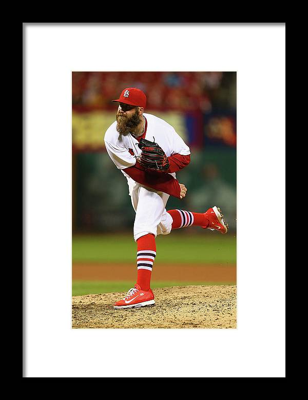 St. Louis Cardinals Framed Print featuring the photograph Jason Motte by Dilip Vishwanat