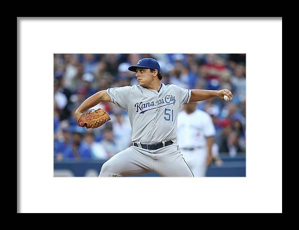 American League Baseball Framed Print featuring the photograph Jason Vargas by Tom Szczerbowski