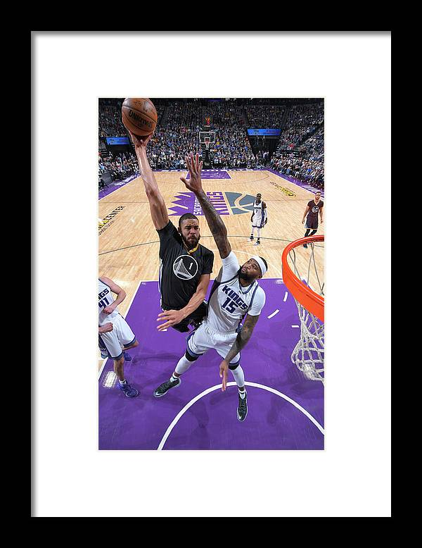 Nba Pro Basketball Framed Print featuring the photograph Javale Mcgee and Demarcus Cousins by Rocky Widner