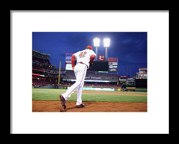 Great American Ball Park Framed Print featuring the photograph Jay Bruce by Andy Lyons