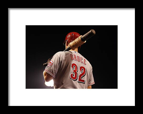 American League Baseball Framed Print featuring the photograph Jay Bruce by Justin K. Aller