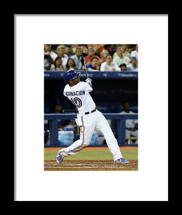 American League Baseball Framed Print featuring the photograph Jay Rogers by Abelimages