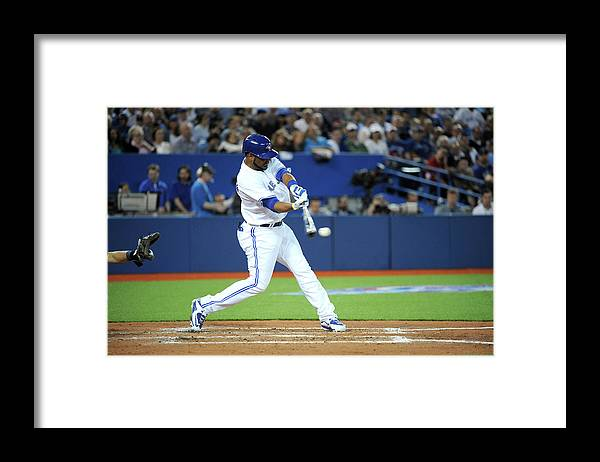 American League Baseball Framed Print featuring the photograph Jay Rogers by Jon Blacker