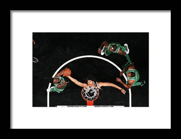 Nba Pro Basketball Framed Print featuring the photograph Jaylen Brown and Jarrett Allen by Nathaniel S. Butler