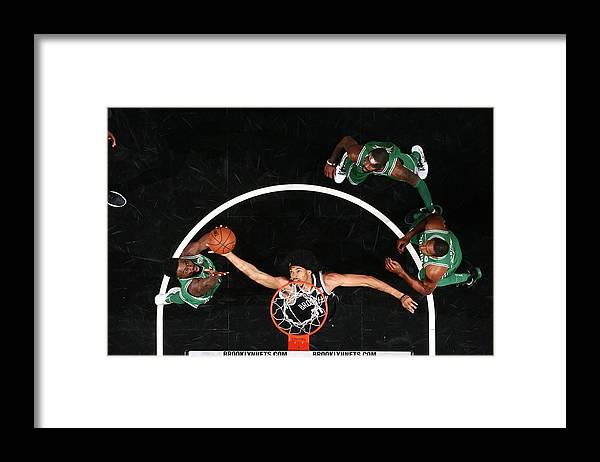 Nba Pro Basketball Framed Print featuring the photograph Jaylen Brown and Jarrett Allen by Nathaniel S. Butler