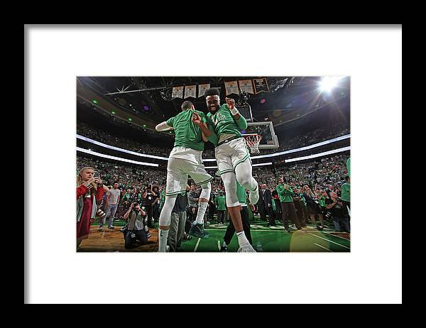 Playoffs Framed Print featuring the photograph Jaylen Brown and Jayson Tatum by Nathaniel S. Butler