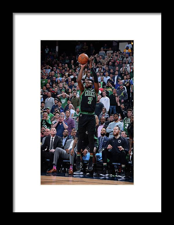 Nba Pro Basketball Framed Print featuring the photograph Jaylen Brown by Bart Young