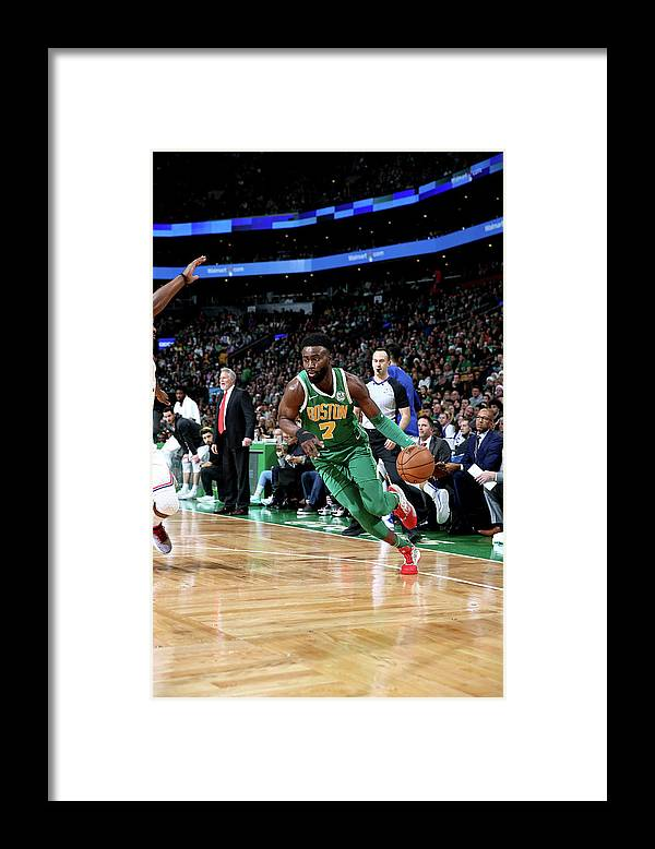 Nba Pro Basketball Framed Print featuring the photograph Jaylen Brown by Chris Marion