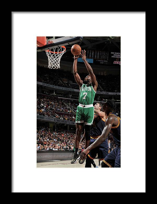 Nba Pro Basketball Framed Print featuring the photograph Jaylen Brown by David Liam Kyle