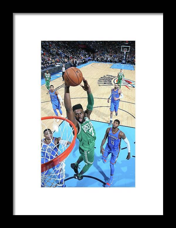 Nba Pro Basketball Framed Print featuring the photograph Jaylen Brown by Layne Murdoch