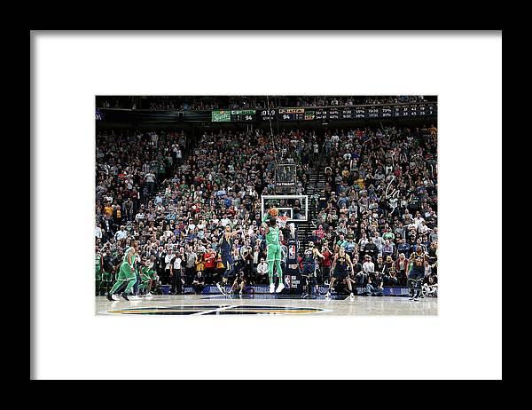Nba Pro Basketball Framed Print featuring the photograph Jaylen Brown by Melissa Majchrzak