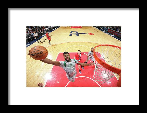 Nba Pro Basketball Framed Print featuring the photograph Jaylen Brown by Ned Dishman
