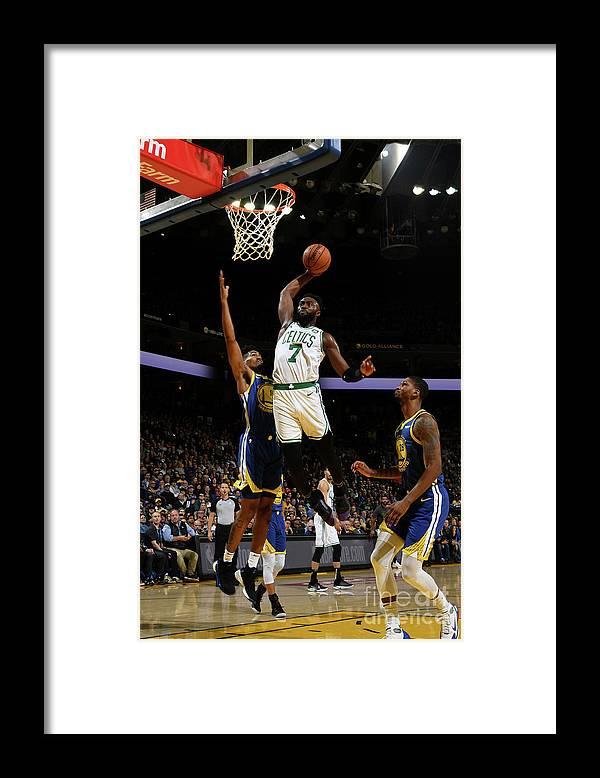 Nba Pro Basketball Framed Print featuring the photograph Jaylen Brown by Noah Graham