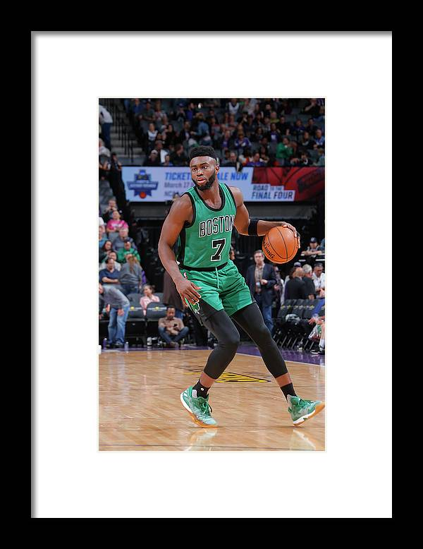 Nba Pro Basketball Framed Print featuring the photograph Jaylen Brown by Rocky Widner