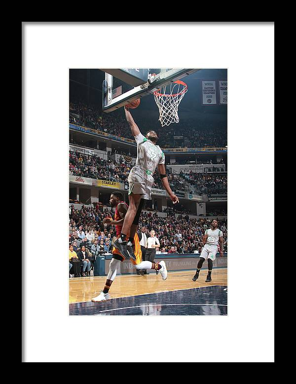 Nba Pro Basketball Framed Print featuring the photograph Jaylen Brown by Ron Hoskins