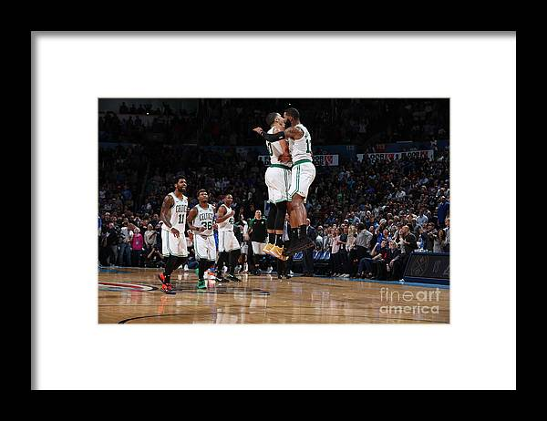 Nba Pro Basketball Framed Print featuring the photograph Jayson Tatum and Marcus Morris by Zach Beeker