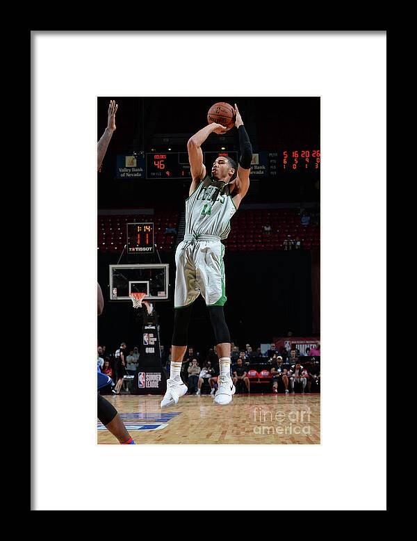 Nba Pro Basketball Framed Print featuring the photograph Jayson Tatum by Bart Young