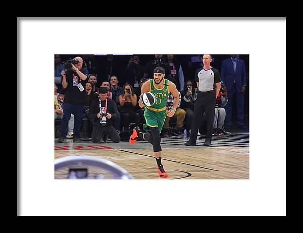 Nba Pro Basketball Framed Print featuring the photograph Jayson Tatum by Bill Baptist