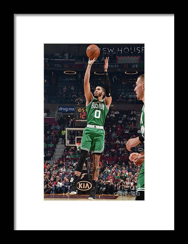 Nba Pro Basketball Framed Print featuring the photograph Jayson Tatum by David Liam Kyle