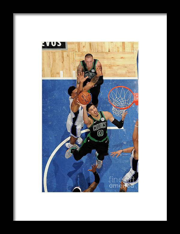 Nba Pro Basketball Framed Print featuring the photograph Jayson Tatum by Fernando Medina