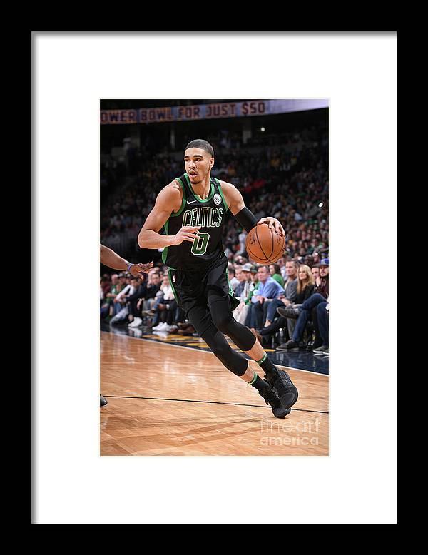 Nba Pro Basketball Framed Print featuring the photograph Jayson Tatum by Garrett Ellwood