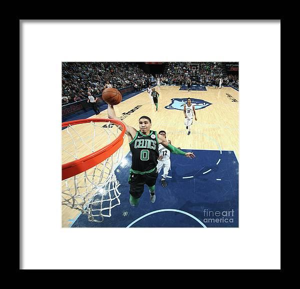 Nba Pro Basketball Framed Print featuring the photograph Jayson Tatum by Joe Murphy