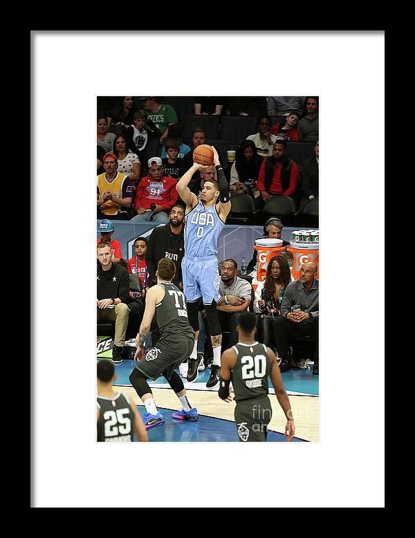Nba Pro Basketball Framed Print featuring the photograph Jayson Tatum by Kent Smith