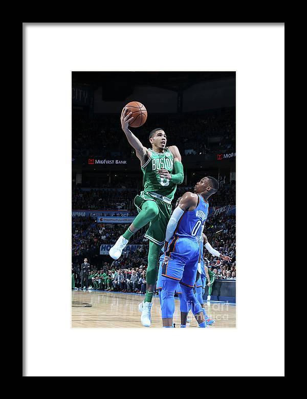 Nba Pro Basketball Framed Print featuring the photograph Jayson Tatum by Layne Murdoch