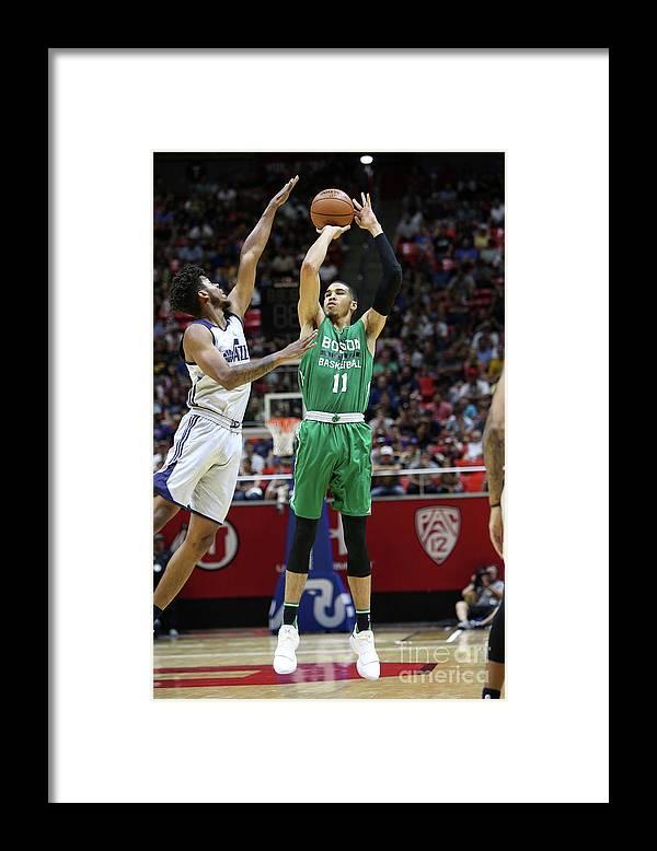 Nba Pro Basketball Framed Print featuring the photograph Jayson Tatum by Melissa Majchrzak
