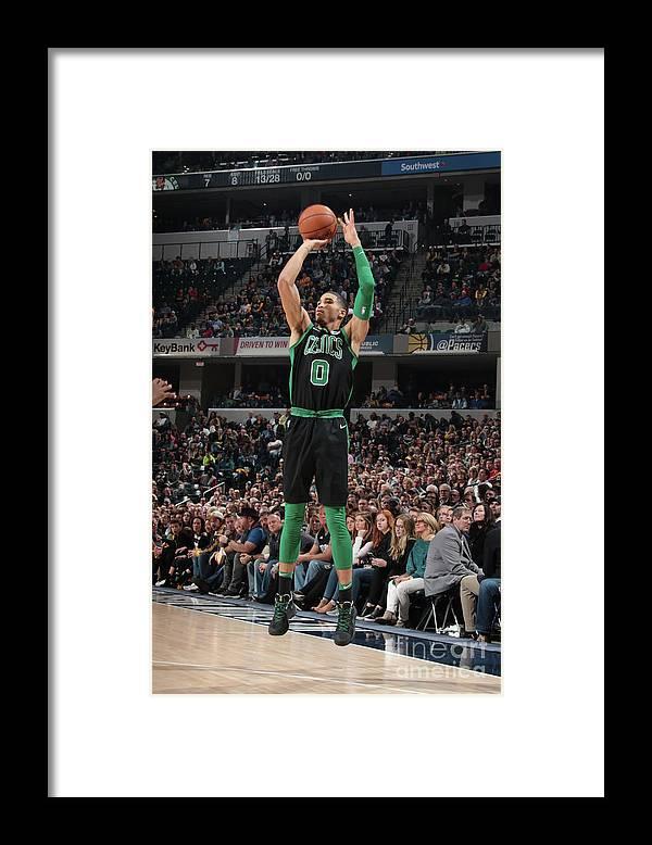 Nba Pro Basketball Framed Print featuring the photograph Jayson Tatum by Ron Hoskins