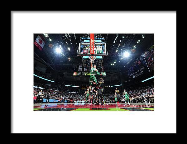 Atlanta Framed Print featuring the photograph Jayson Tatum by Scott Cunningham