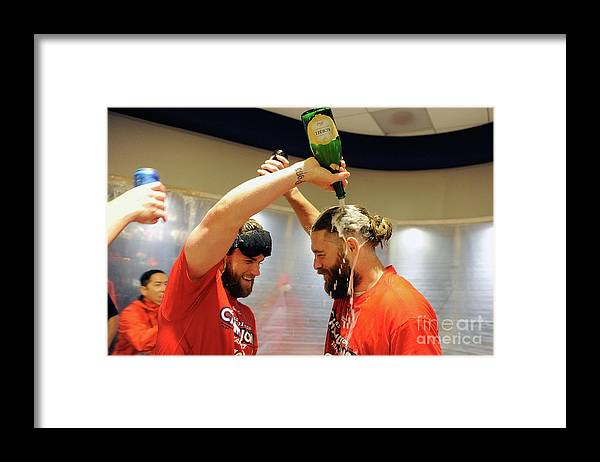 Championship Framed Print featuring the photograph Jayson Werth and Bryce Harper by Greg Fiume