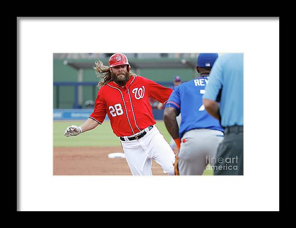 Three Quarter Length Framed Print featuring the photograph Jayson Werth and Bryce Harper by Joe Robbins