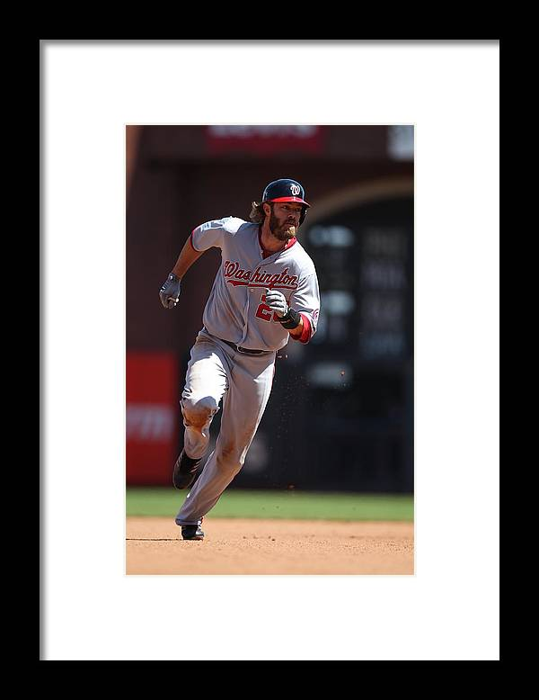 San Francisco Framed Print featuring the photograph Jayson Werth by Brad Mangin
