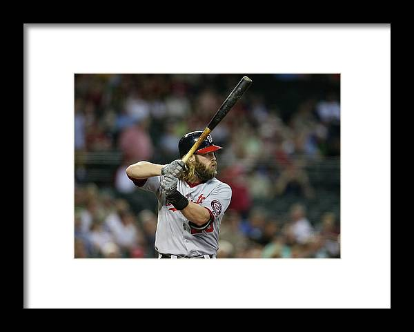 National League Baseball Framed Print featuring the photograph Jayson Werth by Christian Petersen