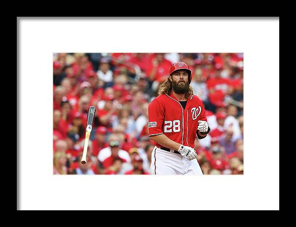 National League Baseball Framed Print featuring the photograph Jayson Werth by Elsa