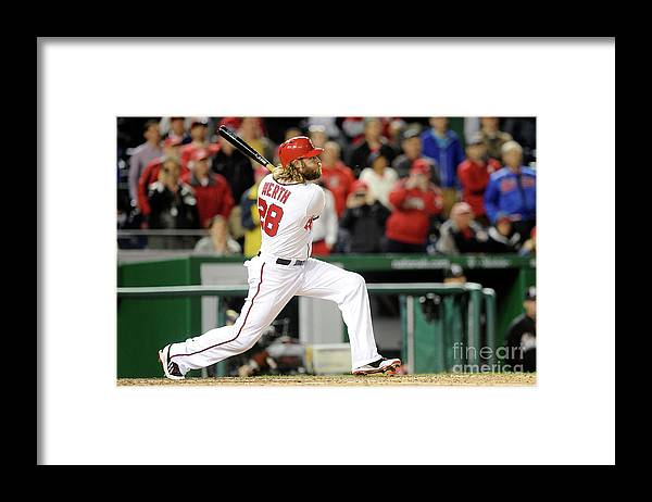 American League Baseball Framed Print featuring the photograph Jayson Werth by Greg Fiume