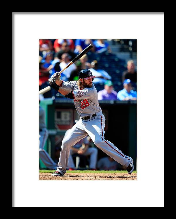American League Baseball Framed Print featuring the photograph Jayson Werth by Jamie Squire
