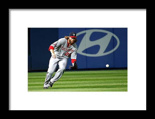 Atlanta Framed Print featuring the photograph Jayson Werth by Kevin C. Cox