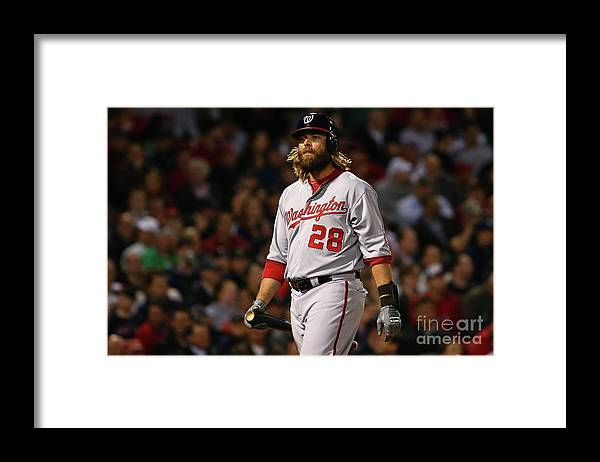 Three Quarter Length Framed Print featuring the photograph Jayson Werth by Maddie Meyer