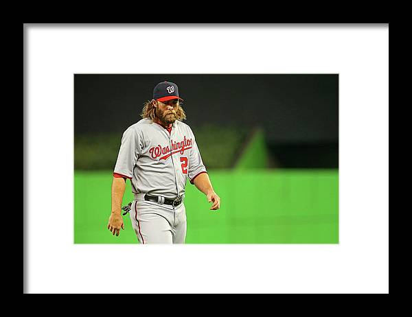 American League Baseball Framed Print featuring the photograph Jayson Werth by Mike Ehrmann