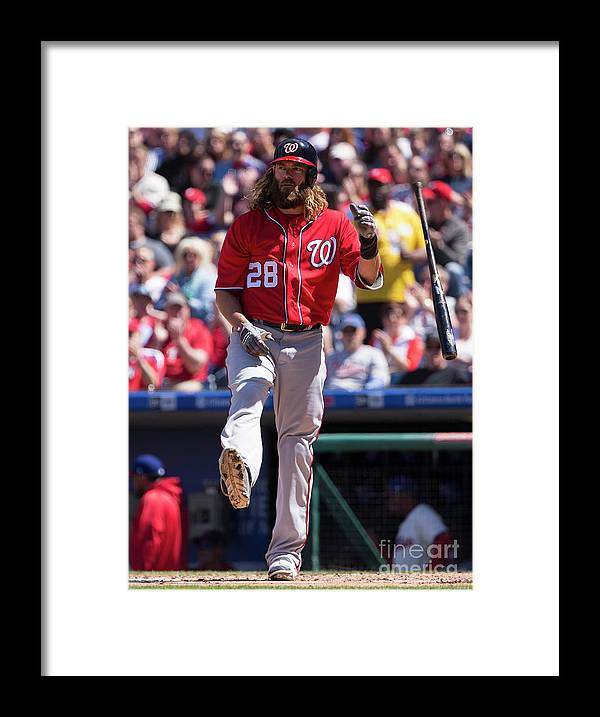Second Inning Framed Print featuring the photograph Jayson Werth by Mitchell Leff