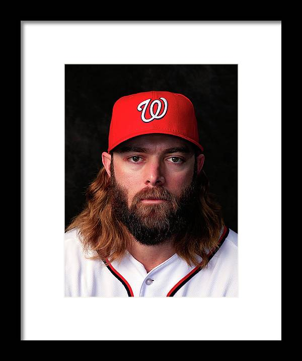 Media Day Framed Print featuring the photograph Jayson Werth by Rob Carr