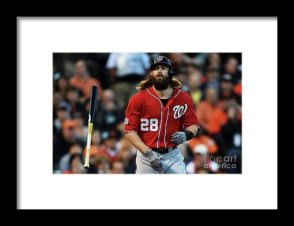 San Francisco Framed Print featuring the photograph Jayson Werth by Thearon W. Henderson