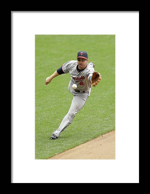 Three Quarter Length Framed Print featuring the photograph Jean Segura and Brian Dozier by Mike Mcginnis